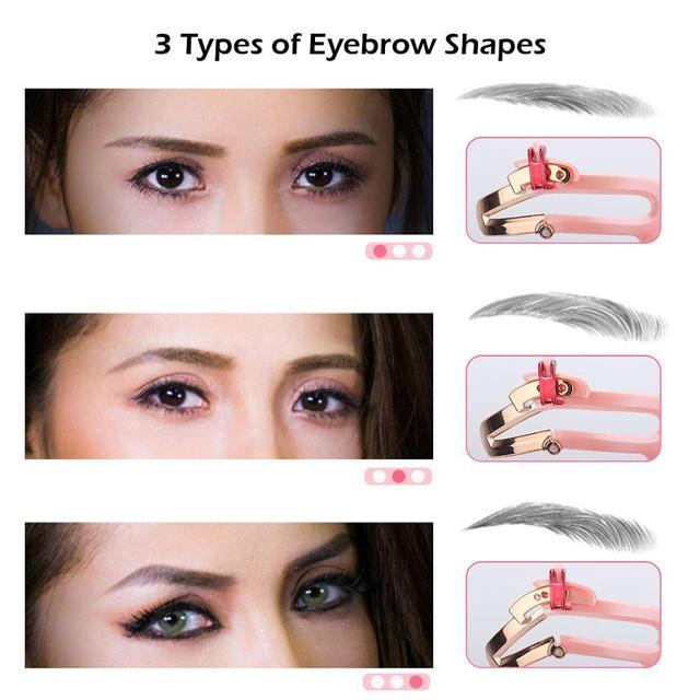 3 Colors Reusable Adjustable Makeup Eyebrow Stencils Professional Cosmetic Tools Eyebrow Drawing Shaper Template Eyebrows Card 3