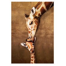 5d diy домашняя искусственная живопись фотография жираф поцелуй
