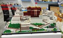 10000pcs+ China architecture Bricks Tibet Lama Holy Land Potala Palace model building blocks micro particles educational toys