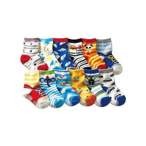 3 7 anos de idade dos desenhos animados das criancas meias 12 pares antiderrapantes meias