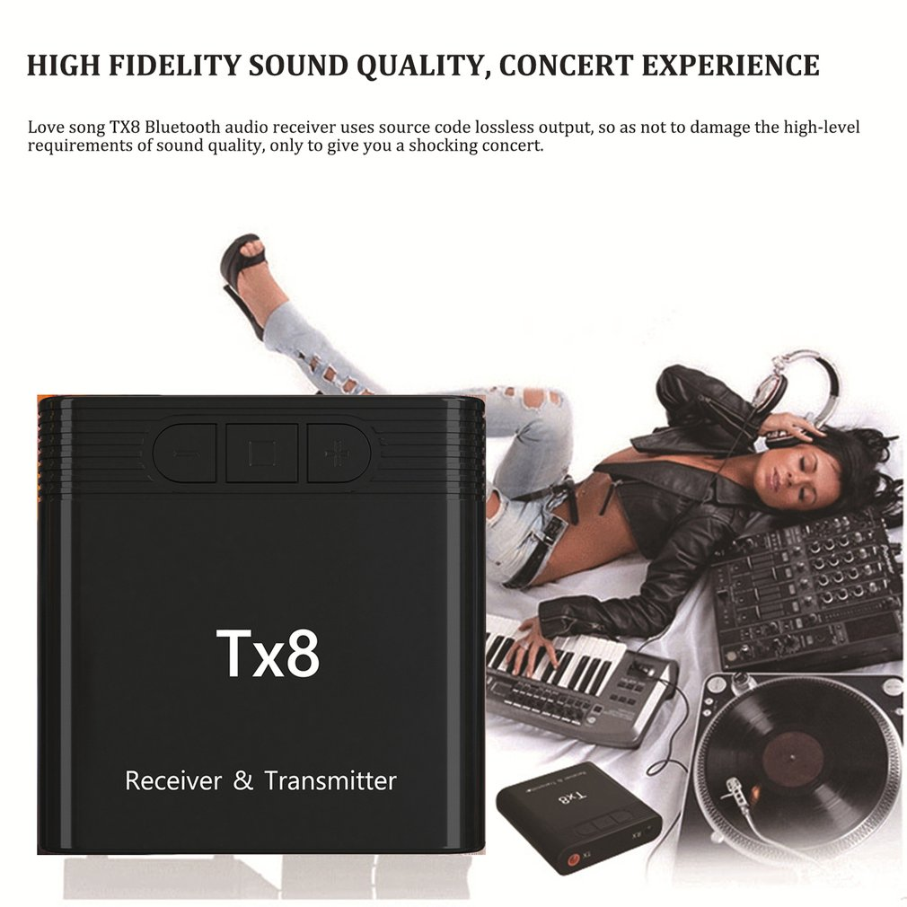 TX8 ТВ Портативный адаптер дальний музыкальный передатчик приемник для дома BT 5,0 для компьютера аудио передатчик