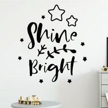 Мультяшные блестящие яркие наклейки на стену самоклеящиеся художественные