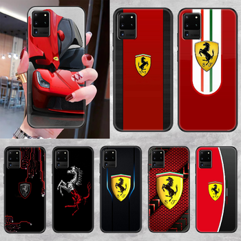 Ferrares Car Sport Phone case For Samsung Galaxy Note 4 8 9 10 20 S8 S9 S10 S10E S20 Plus UITRA Ultra black trend Etui silicone image