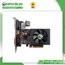 Maxsun полная новая GT 730 SI2G компьютерная графическая карта GDDR3 64-бит Nvidia GPU настольная видеокарта игровая DVI