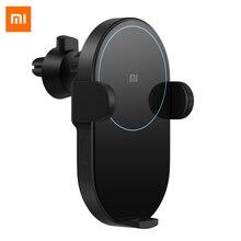 Bezprzewodowa ładowarka samochodowa Xiaomi 20 W, maks. Elektryczny automatyczny szczypta 2.5D szklany pierścień świeci na bezprzewodowe urządzenie ładujące