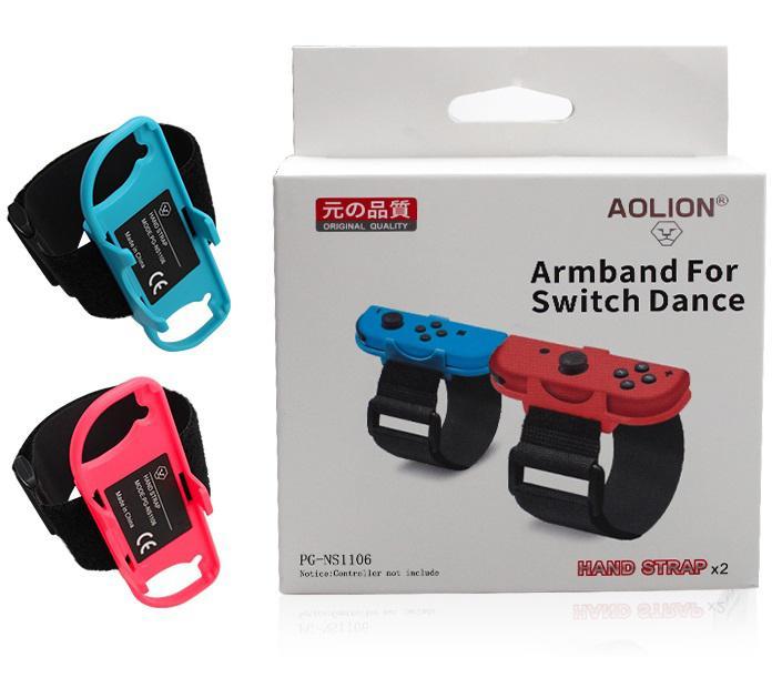 1 Pair Wrist Dance Band Game Bracelet Elastic Strap For Nintendo Switch Joy-Con Controller Adjustable