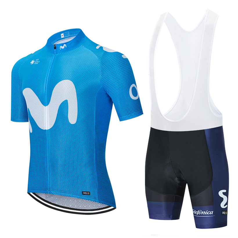 2020 Tour World TEAM CYCLING MOVISTARJersey20D Bike Shorts Set Mtb Ropa Mens Summer Pro BICYCLING Shirts Maillot Culotte Wear