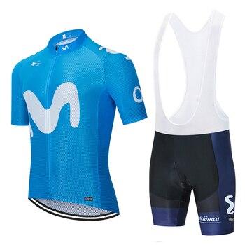2020 Tour equipo mundial MOVITARcycling jersey 20D pantalones cortos de bicicleta conjunto...