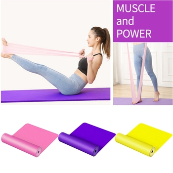 Yoga Pull Strap Belt Polyester Latex Elastic Latin Dance Stretching Band Rope GYM Fitness Exercise Resistance Bands