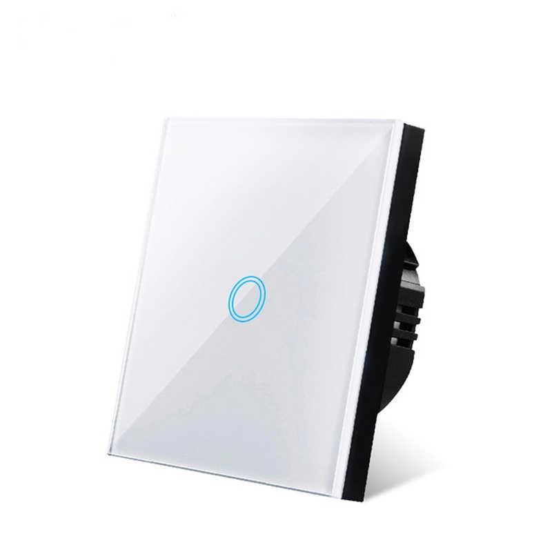 Glas Panel Touch Schalter EU Standard Licht Schalter 220V 1/2/3 Gang Smart Switch für Led Licht