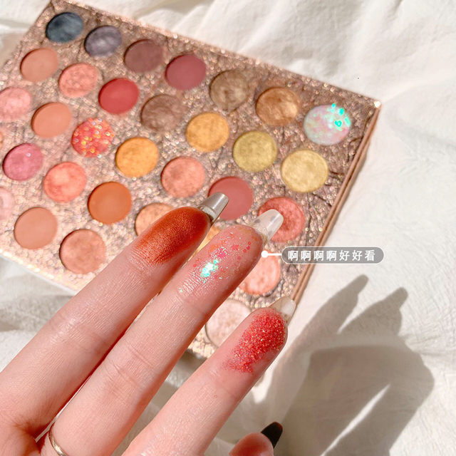 Doradosun 35 Colour Eyeshadow Water-proof Eyeglitters Beads Light Long Lasting Makeup Eyeshadow Pallete 3