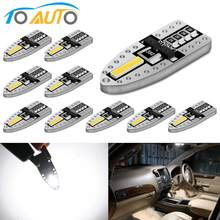 10Pcs T10 W5W 2SMD 7020 Chips LED Bulb CANBUS Ada Kesalahan Auto LED Interior Light 194 168 Super Terang dome License Plate Clearanc(China)