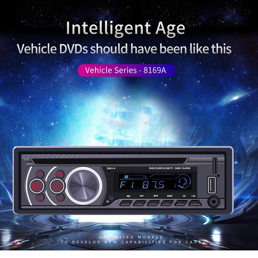 12V Universal Car Radio Bluetooth fm transmitter U Disk Car Audio Stereo Autoradio Vehicle MP3 Player CD/DVD/VCD Player
