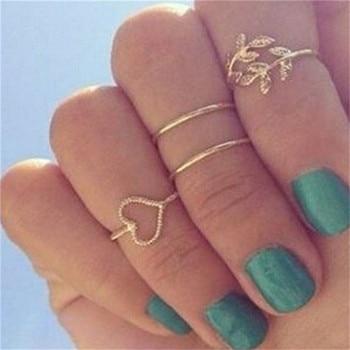 15 Pcs/set Women Fashion Rings Hearts Fatima Hands Virgin Mary Cross Leaf Hollow Geometric Crystal Ring Set Wedding Jewelry 16