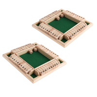 4 Sided Shut The Box Board Game Number Drinking Game for Party/Club Entertainment Game