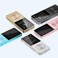 Altavoz de aleación de metal, reproductor mp4, 16GB, HIFI, sin pérdidas, música, mp3, Radio FM, grabadora de voz, E-Book, Mini Walkman deportivo