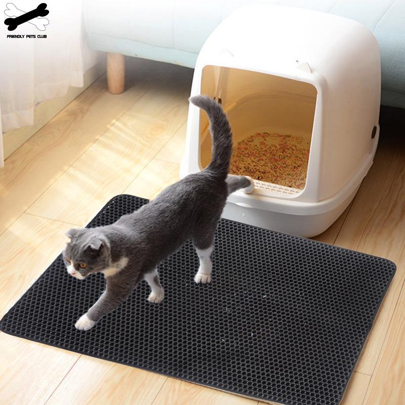 Double Layers Pet Cat Litter Mat Eva  Trapper Mats With Waterproof Bottom Non-slip Pet Litter Cat Mat Layer Easy To Clean