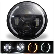 2PCS 150W 7 Inch H13/H4 Round Car LED Headlight Angel Eyes High Low Beam 15000LM Head Lamp Bulbs Driving Light Accessories