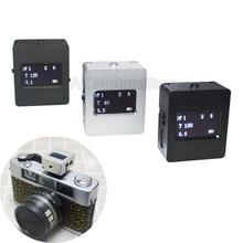 Metal V-201X conjunto-topo reflexão medidor de luz fotografia quente e frio sapato fix tirar fotos mini câmera luminômetro