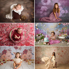 Fleur nouveau né bébé Portrait photographie toile de fond Texture abstraite fleur anniversaire fond Photo Studio bébé douche Photocall