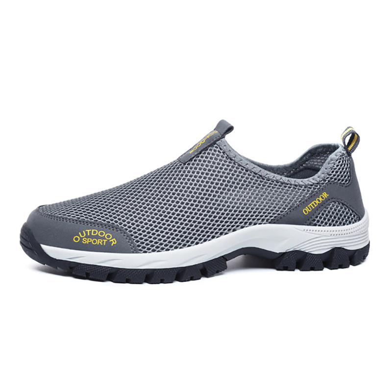 2020 New Men Summer Comfortable Sneakers Shoes Slip-on Breathable Mesh Flats Trainers Casual Sports Run Loafers Plus Size 39-49