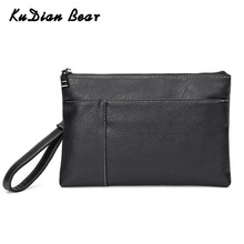 KUDIAN BEAR Small Men Clutch Bag Male Phone Pouch PU Leather Envelope Bags Fashion Day Clutches Handbag BIX344 PM4