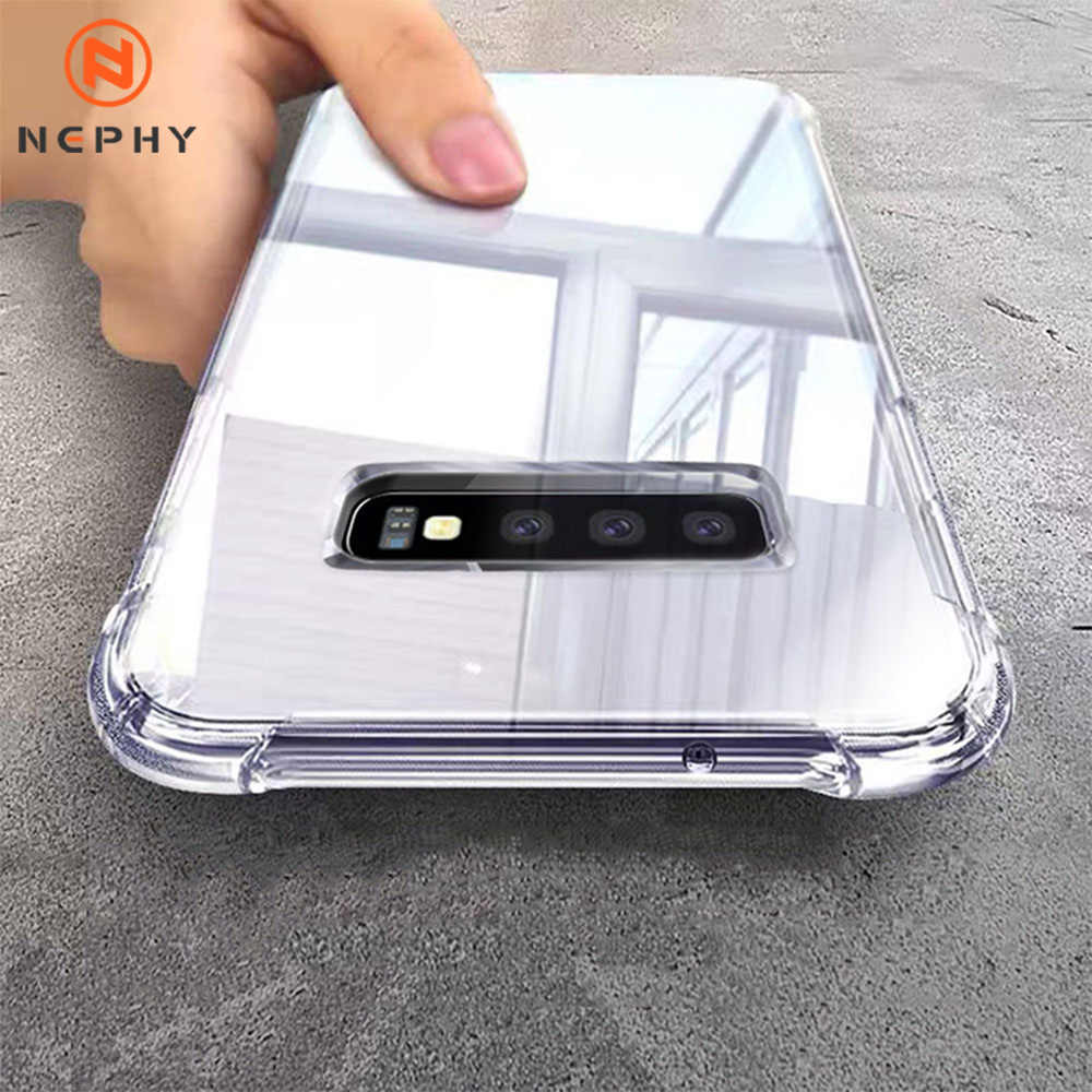 Schokbestendig Clear Case Voor Samsung Galaxy S8 S9 S10 Plus Note 8 9 10 Pro M30 A10 A20 A30 A40 a50 J8 2018 Soft Silicon Cover Coque