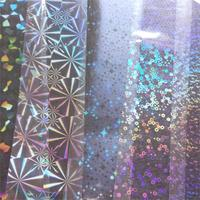 Special 22cm *120M Wholesale Roll Clear Holographic Transfer Foil Star Ring Snowfake Sticker Nail Decal Film DIY Manicure Tools