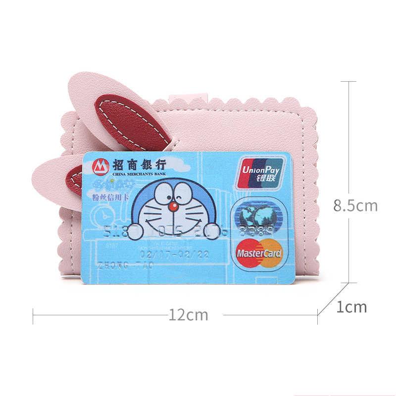 APP BLOG femmes oreilles de lapin mignon ID porte-carte de crédit sac portefeuille cartes de visite organisateur antivol pour Document 2019 nouveau