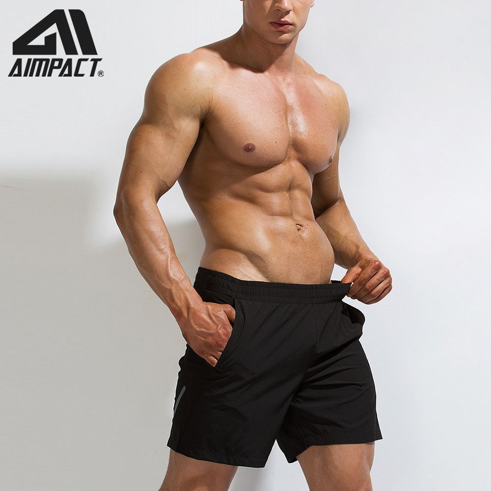 AIMPACT Shorts Workout Summer Cansual Beach-Sportwears Quick-Dry Mens Jogger Fitness
