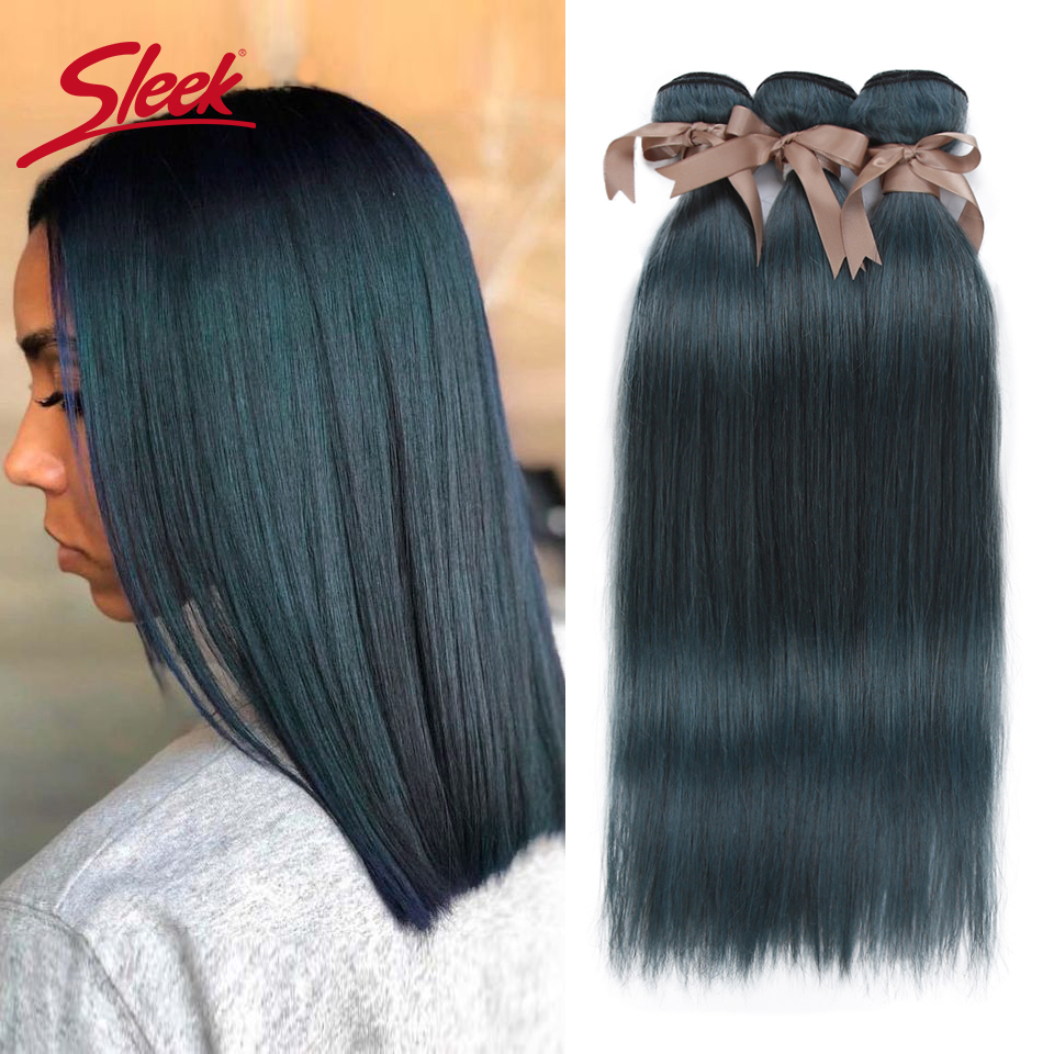 Sleek Mink Blue Orange Blonde Color Malaysian Straight Hair Weave Bundles 8 To 26 Inches Hair Extension Bugha Style Free Shiping