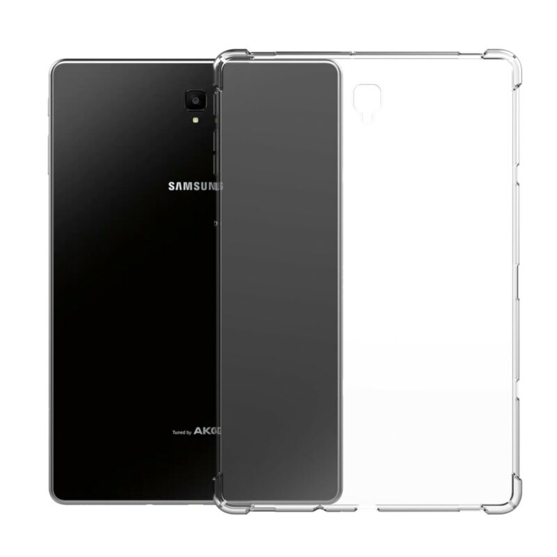 For <font><b>Samsung</b></font> Galaxy Tab A 8.0 SM-P200 <font><b>P205</b></font> 2019 Clear Transparent Silicone Soft Shockproof Protective Bumper Cover image
