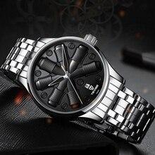 TEVISE mode Creative mécanique montre hommes de luxe Sport automatique montre en acier inoxydable étanche hommes montre automatique Date horloge
