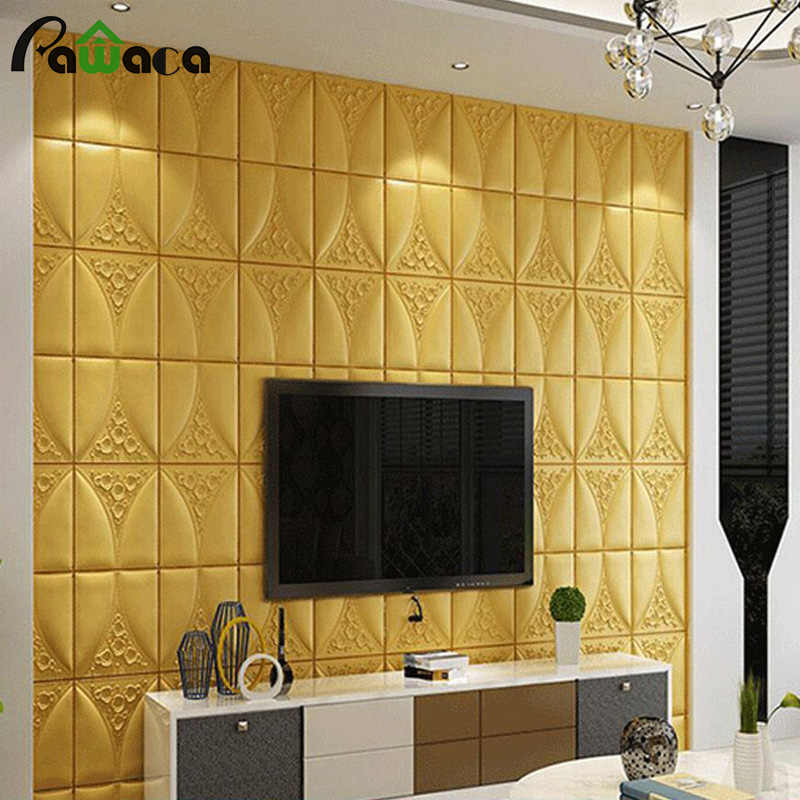 3d Waterproof Brick Wallpaper Diy Wall Poster Self Adhesive Foam Wall Stickers For Bedrooms Living Room Home Tv Wall Decor Wallpapers Aliexpress