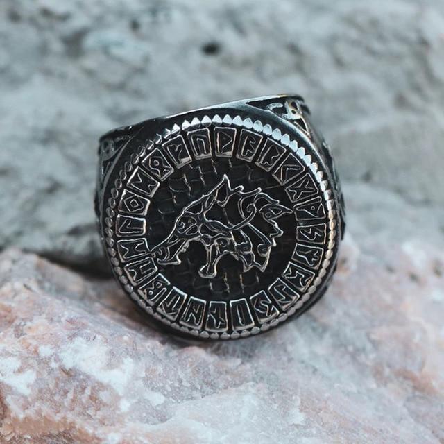 Bague loup nordique FENRIR 2