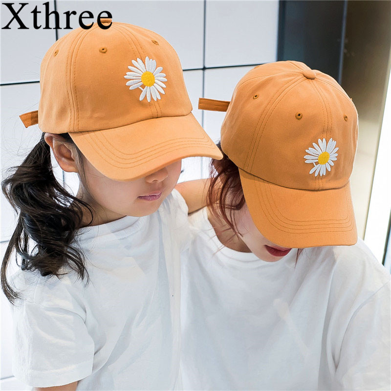 Xthree  Summer Women And Children Baseball Cap Parent Child Hat  Snapback Hat Embroidery Bone Cap Gorras Casual Casquette