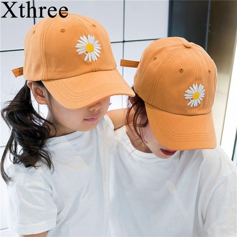 Xthree  Summer Women And Children Baseball Cap Parent Child Hat  Snapback Hat Embroidery Bone Cap Gorras Casual Casquette