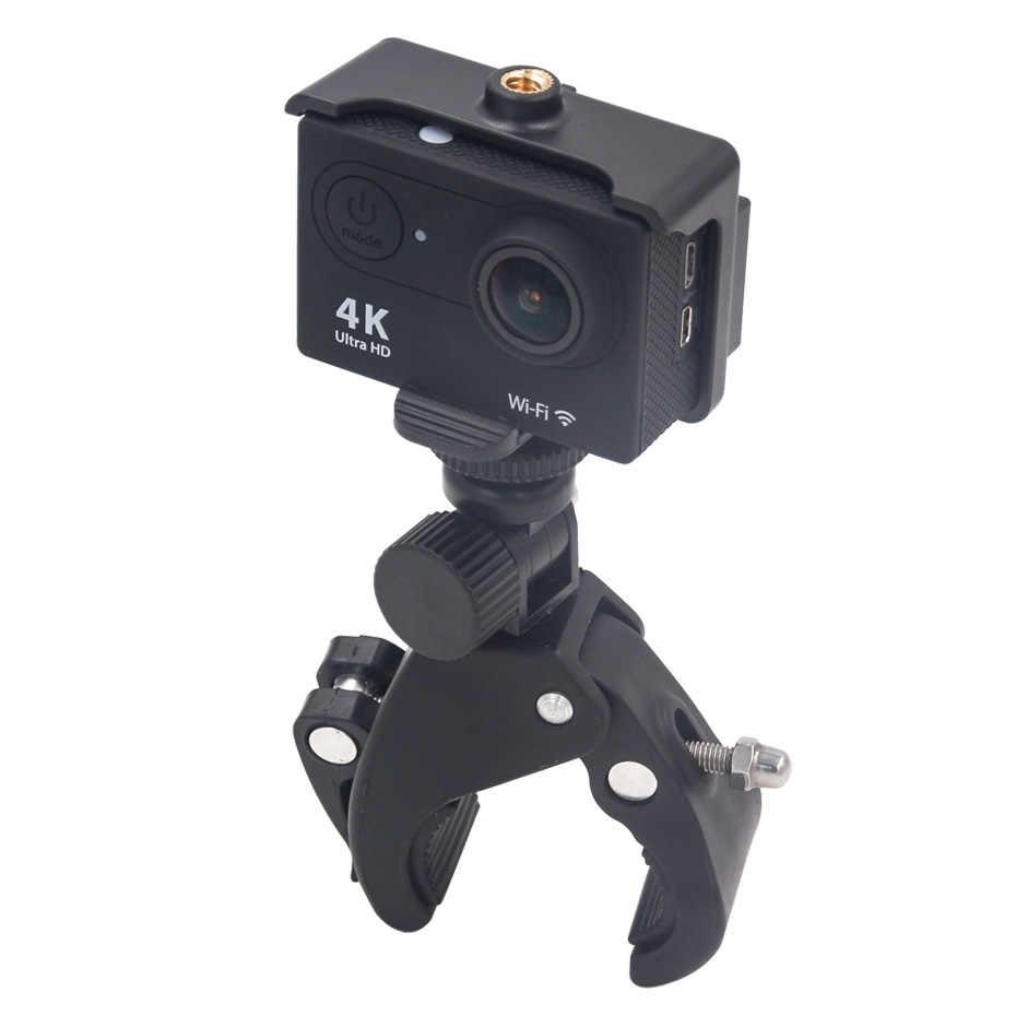 אופניים אופנוע כידון קלאמפ הר ללכת פרו מצלמה מחזיק קליפ אבזר אופניים pro עבור גיבור 5 6 4 4K מצלמה מחזיק קליפ