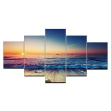 Wall Posters Modern Home Decoration 5 Beautiful Natural Landscape HD Print Modular Panel Painting Photos Canvas