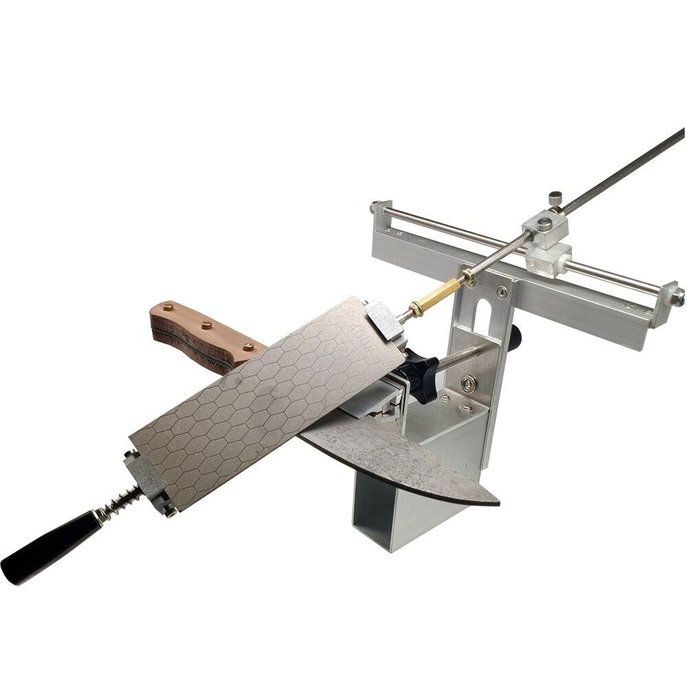 KME aiguiseur de couteau couteau de cuisine 200 #500 #1000 # diamant whetstone barre cuir strop polissage Sy-003