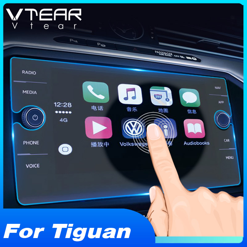 Anti Scratch Navigation Screen Protector Tempered Glass for 2018 2019 Volkswagen Tiguan 8 Inch Center Touch Display Screen Protective Film Accessories