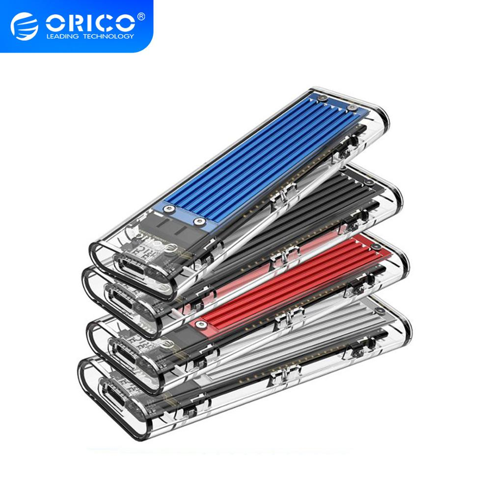 ORICO M2 SSD Case NVME SSD Enclosure M 2 to USB Type C Transparent Hard Drive Enclosure for NVME PCIE NGFF SATA M B Key SSD Disk