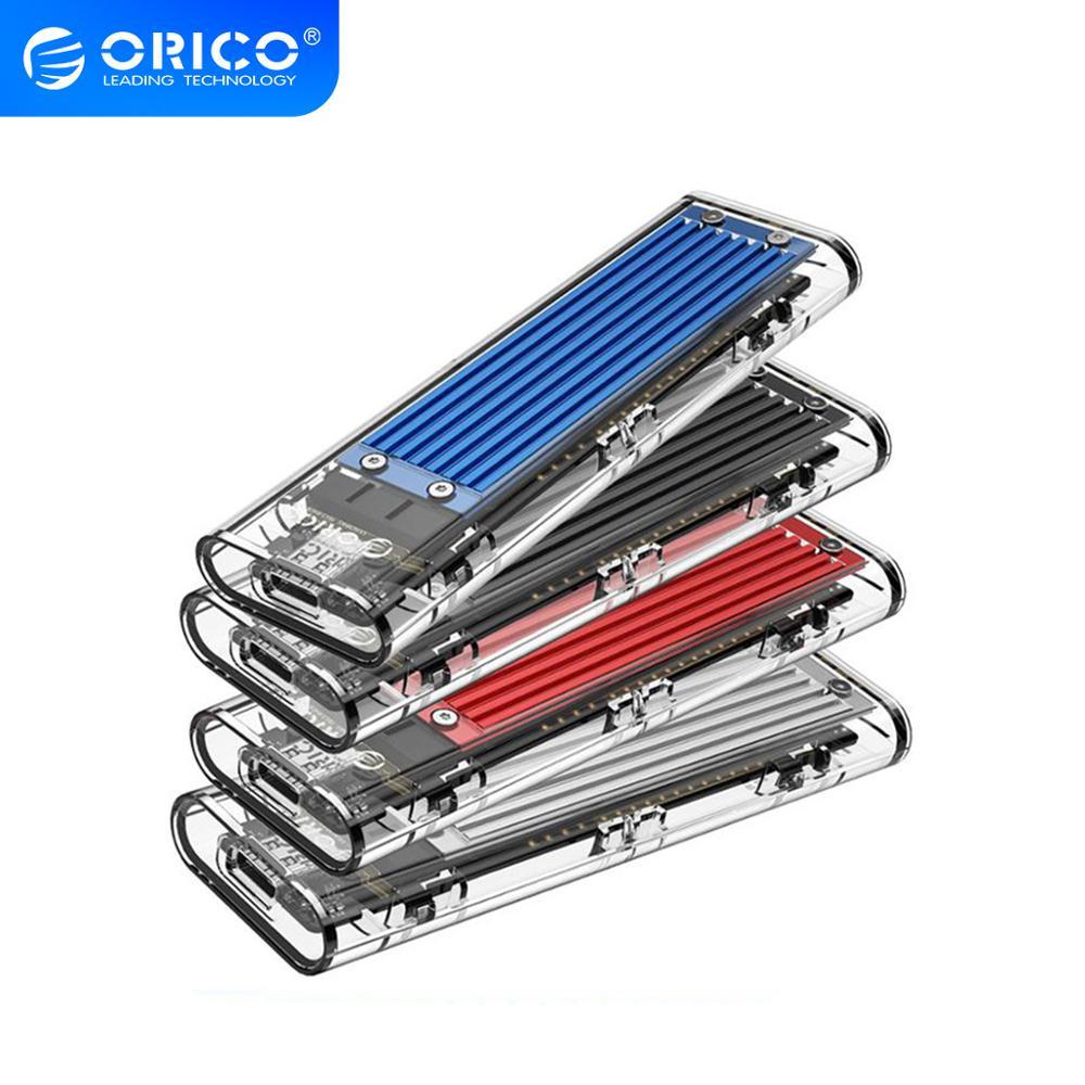 ORICO M2 SSD Case NVME SSD Enclosure M 2 to USB Type C Transparent Hard Drive Enclosure for NVME PCIE NGFF SATA M B Key SSD Disk