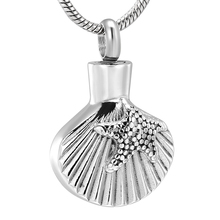 cremation jewelry ashes  Shell shape screw holes at the top to put a small amount of but enough commemorate