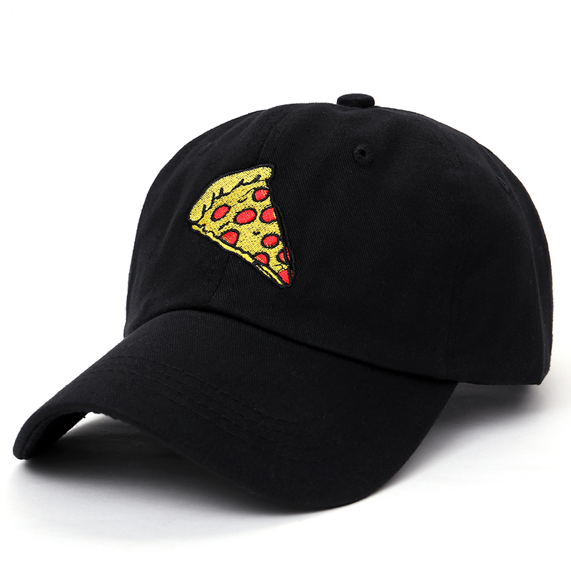 Shop For Cheap New Pizza Embroidery Baseball Cap Trucker Hat For Women Men Unisex Adjustable Size Dad Cap Leisure Hats