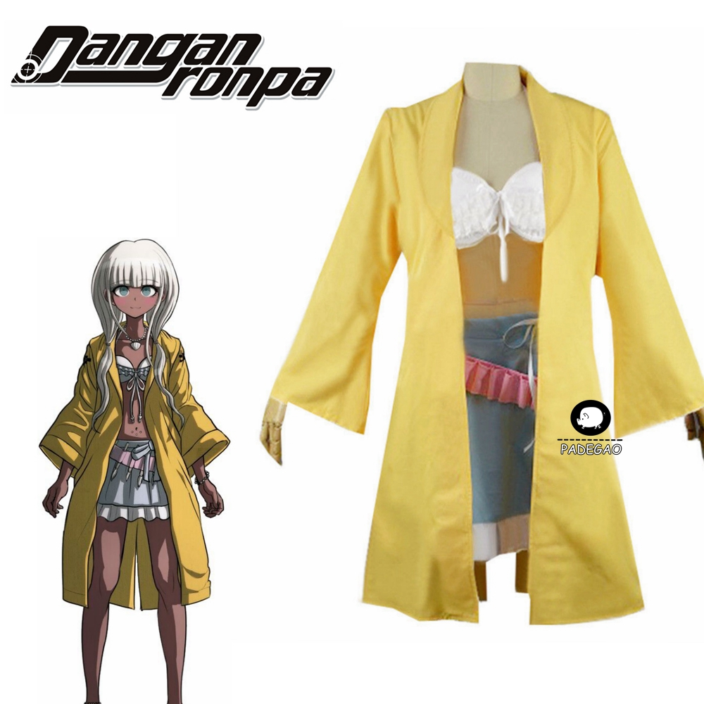 Danganronpa V3 : Killing Harmony Angie Yonaga Uniform Anime Halloween Christmas Yellow Suit Cosplay Costume
