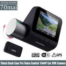 70mai 대쉬 캠 프로 영어 음성 제어 1944P 70MAI 자동차 DVR 카메라 GPS ADAS 140FOV 나이트 비전 24H 주차 모니터