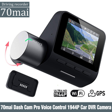 70mai Dash Cam Pro English Voice Control 1944P 70MAI Car DVR Camera GPS ADAS 140FOV Night Vision 24H Parking Monitor