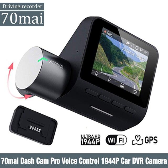 70mai çizgi kam Pro İngilizce ses kontrolü 1944P 70MAI araba dvrı kamera GPS ADAS 140FOV gece görüş 24H park monitörü