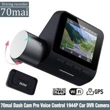 Xiaomi 70mai Pro Dash Cam 1944P gps ADAS Автомобильная камера Dvr 70 mai Pro Dashcam Голосовое управление 24H монитор парковки Автомобильный Wi Fi камера